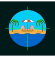 Summer vacation target vector image