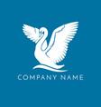 swan logo sign emblem-15 vector image