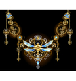Symmetric Ornament with Dragonfly vector image