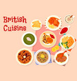 british cuisine traditional dinner menu icon vector image