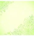Light green ornate flowers background vector image