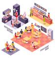 food court design concept vector image