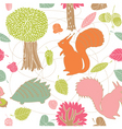 autumn forest seamless pattern vector image vector image