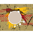 army grunge background vector image vector image