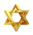 Judaism star Seal of Solomon icon vector image