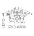 Graduation Postcard Concept vector image