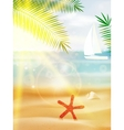 Abstract summer poster with beach vector image