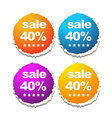 colorful sale labels vector image