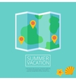 Flat colored location icon vector image