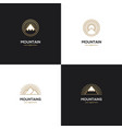 four mountain logo in golden color vector image