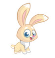 happy rabbit cartoon isolated vector image