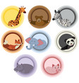 label templates with wild animals vector image