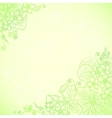 Light green ornate flowers background vector image