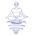Pleasant meditation vector image