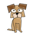 scribble funny doggy cartoon vector image