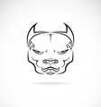 image of a dog pitbull head vector image vector image