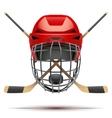 Ice hockey symbol Design elements vector image