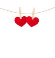 hearts clothespins 02 vector image