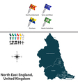 North East England vector image