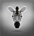 abstract triangle polygonal zebra origami vector image vector image