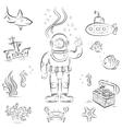 Deep diving vector image vector image
