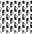 black cat seamless vector image