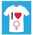 I love women t-shirt vector image