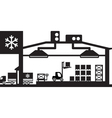 Industrial cold store scene vector image