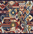 native american fabric patchwork wallpaper vector image