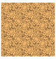 seamless pattern of biscuit butter chocolate ears vector image
