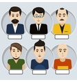 Set of stylish avatars man icons vector image