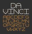 thin modern font da vinci vector image