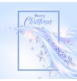 Shine winter background with snowflakes for vector image