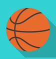 basketballbasketball single icon in flat style vector image