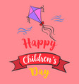 happy childrens day cartoon style vector image