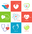Health care heart icons vector image