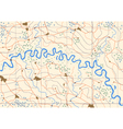 Meandering river vector image