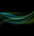 Green-Blue Light Waves Background vector image vector image