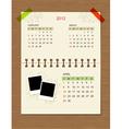 calendar2012 april vector image vector image