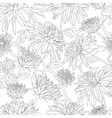 Seamless pattern with dahlia in black and white vector image