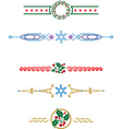 christmas laces vector image