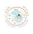 Good Dragon Fairy Tale Character Girly Sticker In vector image