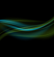 Green-Blue Light Waves Background vector image