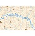 Meandering river vector image