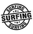 surfing round grunge black stamp vector image