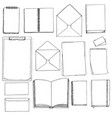 template of blanks and books vector image