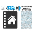 Realty Catalog Icon with 1000 Medical Business vector image