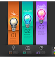 Business lightbulb stair thinking solution Idea vector image