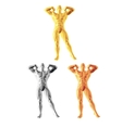Abstract bodybuilder figure vector image