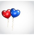 Background with two balloons vector image vector image